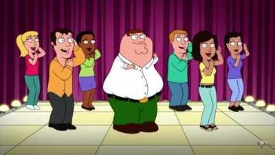 Peter dancing on Macarena
