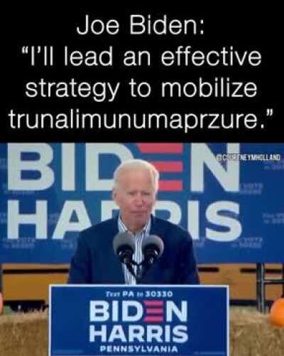 Joe's so sharp, he's using words no one's even heard of