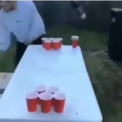 Beer pong surprise