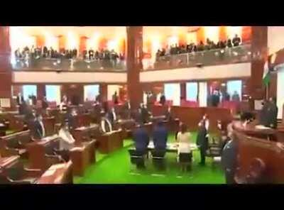 National anthem played in Nagaland Assembly for the first time. Nagaland became a state on 1 December 1963!