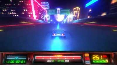 'Power Drive 2000', an abandoned kickstarter project of an 80s themed arcade game