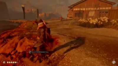 Dodging an arrow by ending someone's suffering [Ghost of Tsushima]
