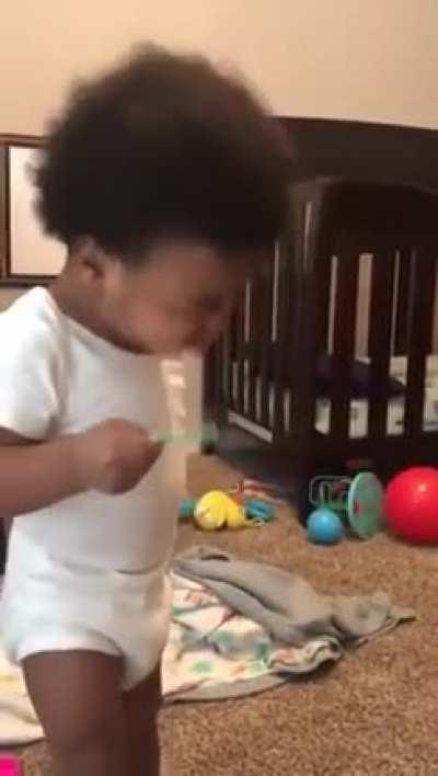 Blowing bubbles is tough.