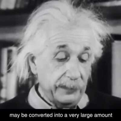 Einstein talking about the theory of relativity