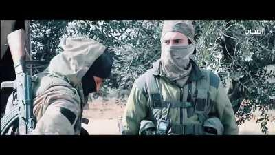 Video released by Hay'at Taḥrīr al-Shām titled 300 Days Between The Trenches And The Rifles [Syria] (August, 2020) Part 3
