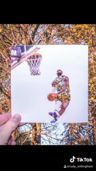 Printed, cut, and photographed every goddamn frame of this Lebron dunk. Was it worth it?