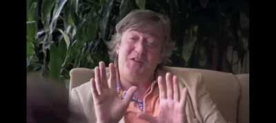 Stephen fry talking to a gay conversion therapist.