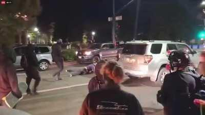 """Last night, a mob of BLM-antifa protesters staged a """"No Justice, No Peace"""" protest outside city hall in Walnut Creek, Cal. (near San Francisco)."""