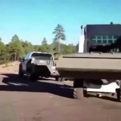 Gymnastic skid steer.