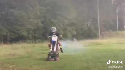 Top tier lawnmower