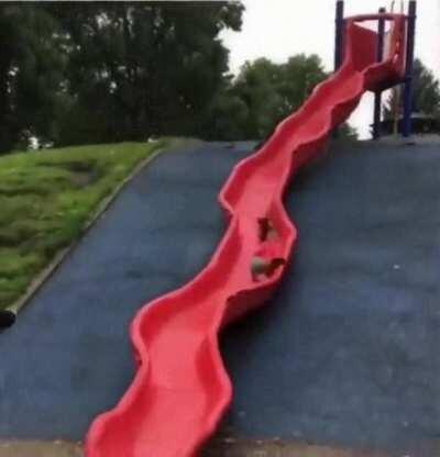 A slide with curves
