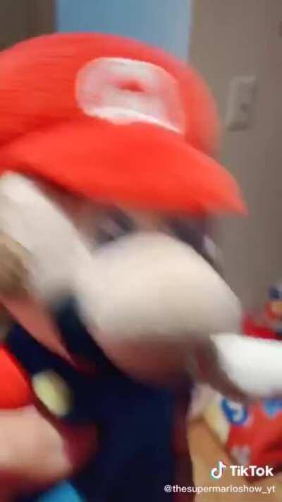 Luigi In The Shower!