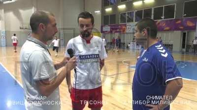 WCGW while I'm doing an interview on the court