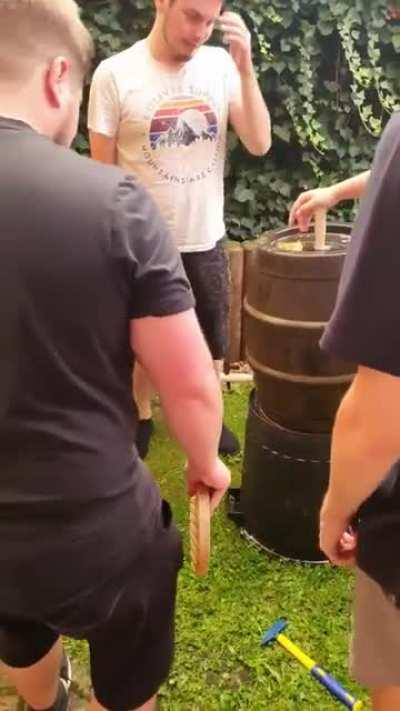 How to waste beer
