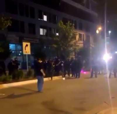 Grand Rapids PD fires a tear gas canister at an unarmed man (right after they maced him) point blank to the face