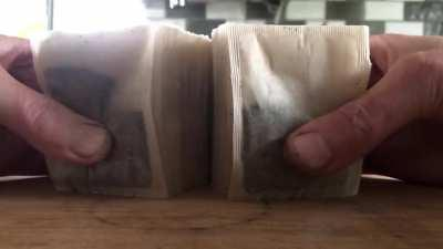 The satisfaction of separating paired teabags