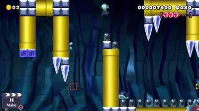Here's a fun platformer with shells. Coins required.