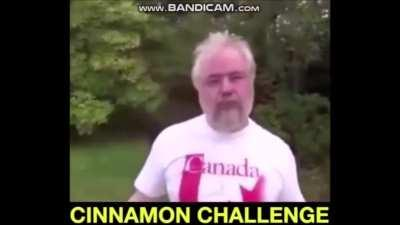 watch this man of steel eat cinnamon