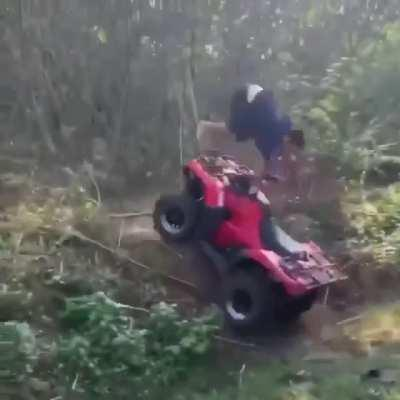 Not the best way to operate an ATV