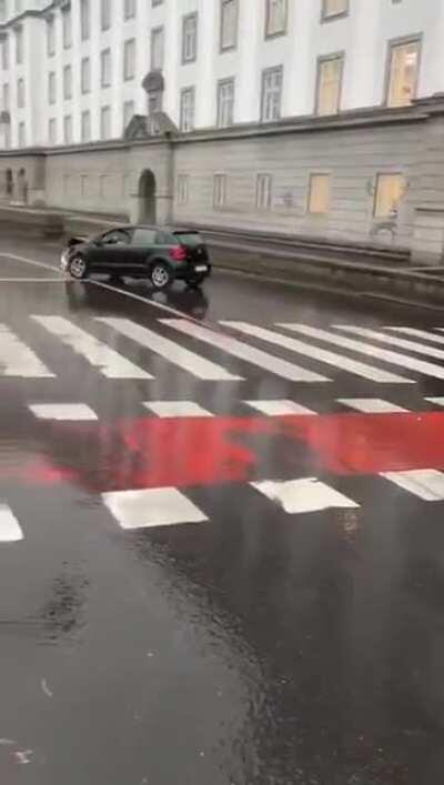 While attempting a hit and run