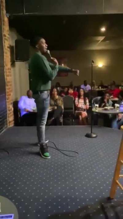 When mumble rap graduates to stand-up comedy...