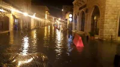 Venice - Jounieh Branch. Video showing streets of Jounieh flooded because of yesterday's rain