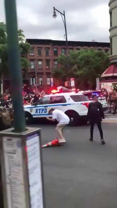 NYPD Officer Drives Car Into Crowd of BLM Protesters