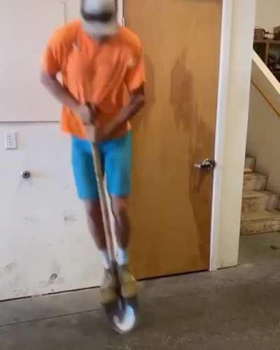 Using a shovel as a pogo stick (xpost from r/winstupidprizes