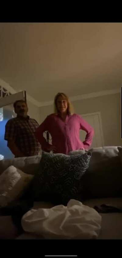White couple walks into AirBnB home to question why Black man is staying there.