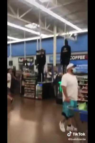 Nothing to see here, just a couple of dudes vibin in Walmart