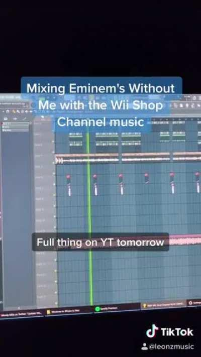 Mixing Eminem's Without Me with the Wii Shop Channel music