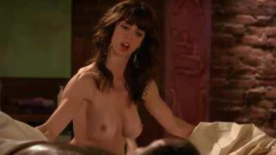 Rachel Germaine giving a topless double handjob on Weeds