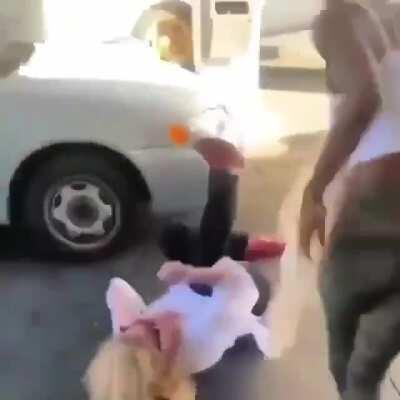 Real blond v wig blond in a quick beat down