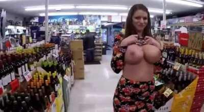 Flashing Her Tits