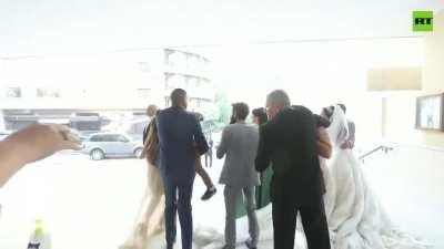 Beirut blast hits church during wedding
