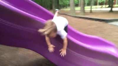 Children falling over