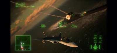 Dodging missile swarms