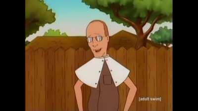 Dale Gribble's cure for lice
