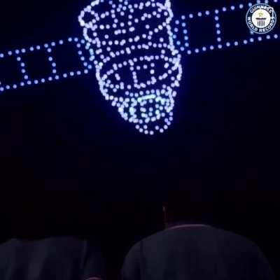 This drone display in China