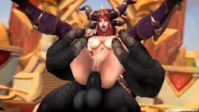Alexstrasza Assfucked by a huge Tauren (World of Warcraft) [The Firebrand]