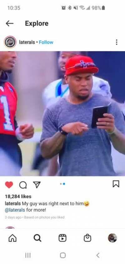 Steve Smith asks Cam if he should start DJ Moore right in front of him. God I miss this Savage on our roster