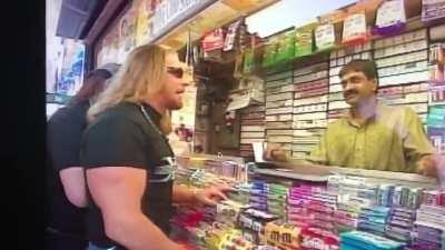 Triple H doing himself proud on the streets of NYC.