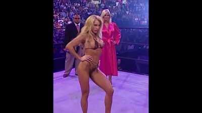 WWE diva Sable (Rena Mero) flaunts her body in a very skimpy bikini.