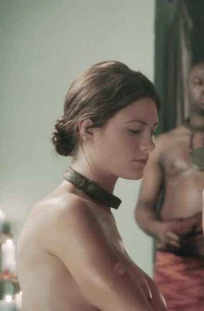 Big Titted Laura Surrich Getting Fucked In Spartacus. She Was Pregnant On Set