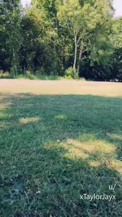 Chilling out at the park in my little micro bikni when I noticed guys kept looking over so I decided to have a subtle play