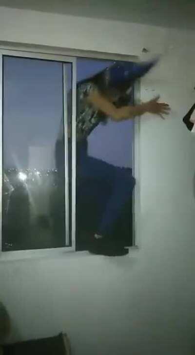 WCGW Dancing on window