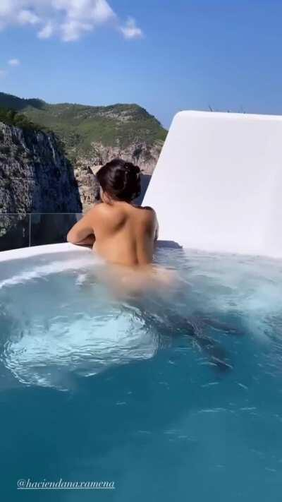 Demi in the Pool Contrast Correction (Full Video in Comments)