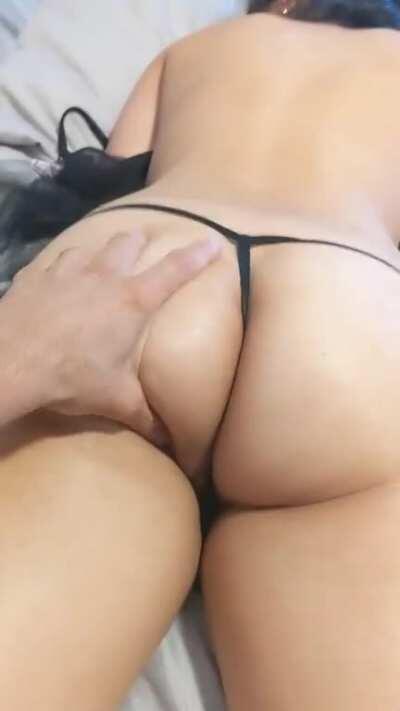 Smacked her slutty ass 🍑