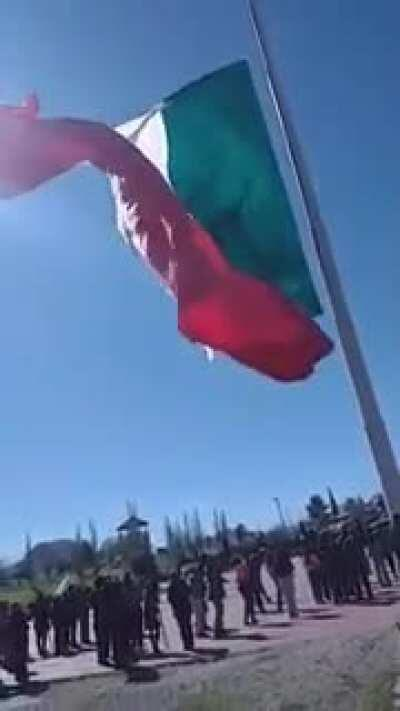 Fuck this Mexican soldier in particular (who was wrapped up by the flag and dumped from mid-air).
