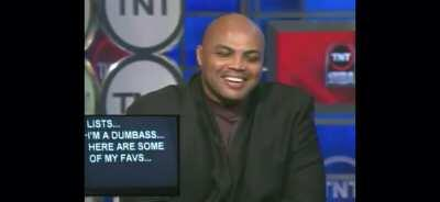 Charles Barkley reading whatever's on the teleprompter